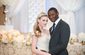 white bride black groom