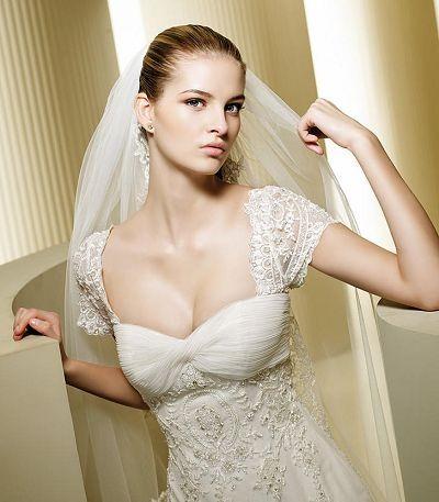 Cap Sleeve Bridal Gown