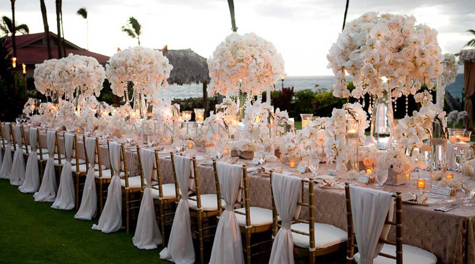wonderful wedding setting