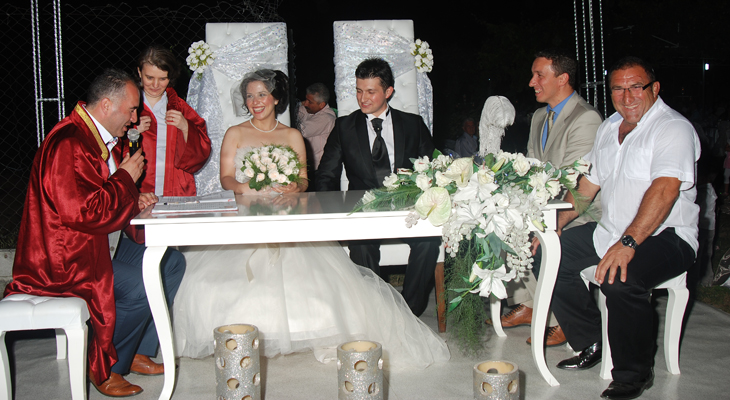 Turkish Bride and Groom