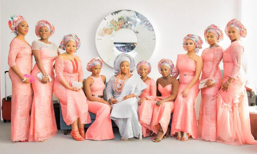 Nigerian Wedding Bridal Party